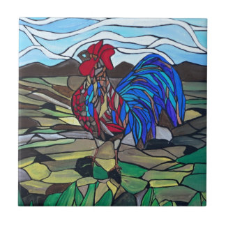 Country rooster tiles