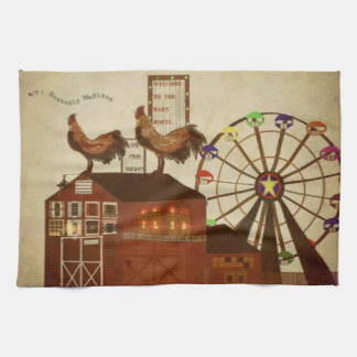 Country Rooster Towel