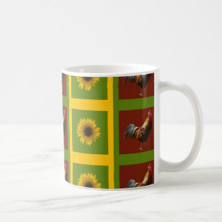 Country Roosters And Sunflowers Mug