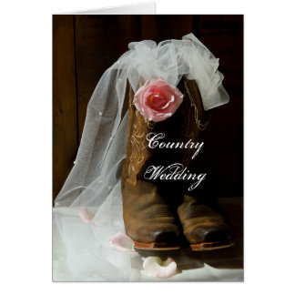 Country Rose Wedding Save the Date Cards