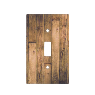 Country Rustic Barn Wood Wooden Light Switch Cover