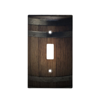 Country Rustic Barrel Barn Wood Wooden Light Switch Cover