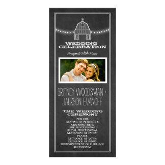 Country Rustic Chalkboard Barn Wedding Programs