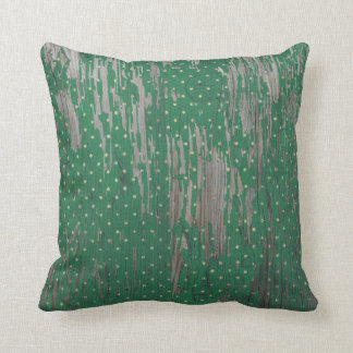 Country Rustic Holiday Polkadot Green Throw Pillow
