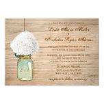 Country Rustic Mason Jar Hydrangea Wedding