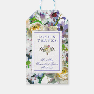 Country Rustic Peony Wedding Gift Tag