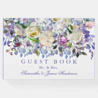 Country Rustic Peony Wedding Guest Book