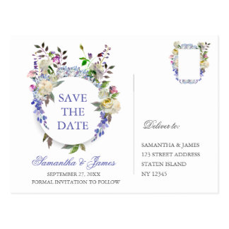 Country Rustic Peony Wedding Save The Dates Postcard