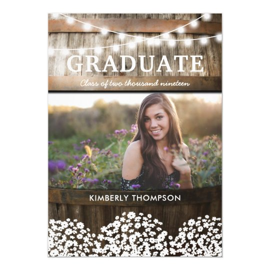 Country Rustic Photo 2017 Graduation Party Card