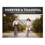 Country Rustic Thankful Wedding Thank You Postcard
