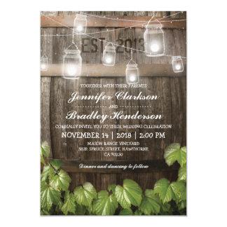 Country Rustic Wedding | Barrel Vine Card