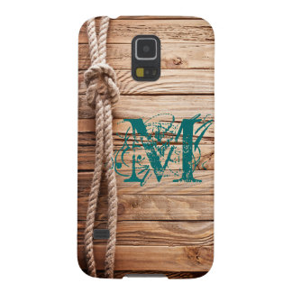 Country Rustic Wood Monogram Samsung Galaxy S5 Galaxy S5 Cover