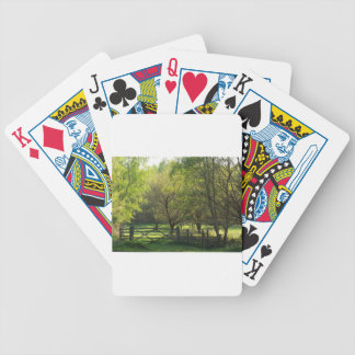 Country Scene Bicycle Playing Cards