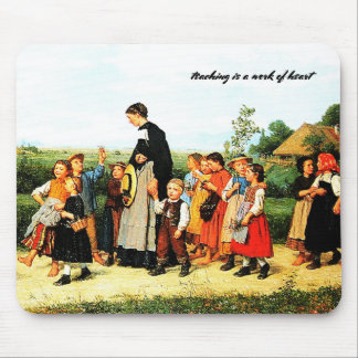 Country School Teacher Painting Gift Mousepads