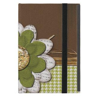 Country Scrapbook Flower iPad Mini Covers