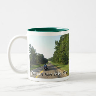 Country side ride Two-Tone coffee mug