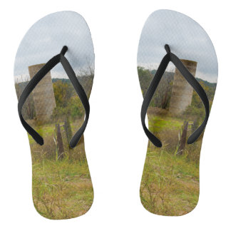 Country Silo Flip Flops