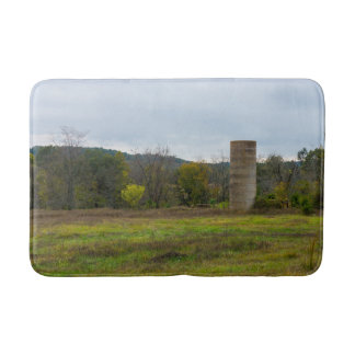Country Silo Landscape Bath Mat