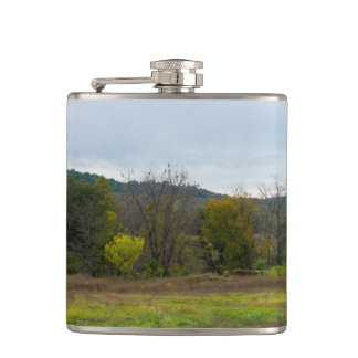 Country Silo Landscape Flask