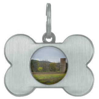 Country Silo Landscape Pet ID Tag