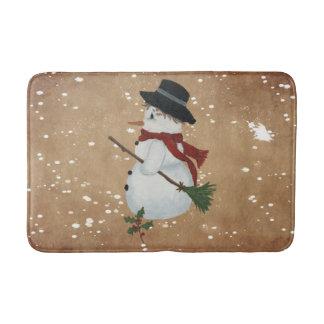 Country Snowman Bath Mat