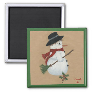 Country Snowman Magnet