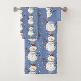 Country Snowman Wynter Joy Bathroom towel set