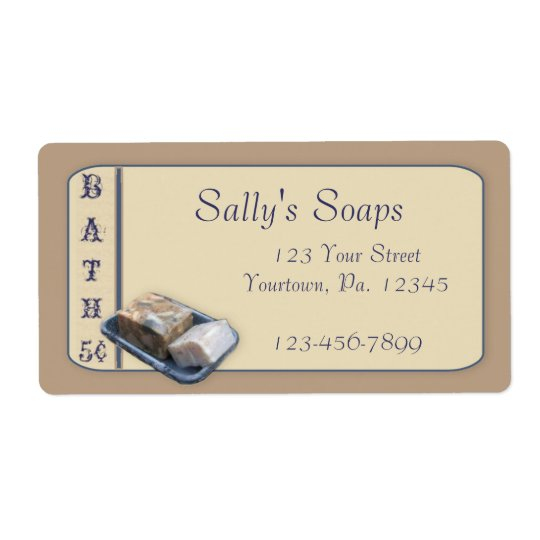 Country Soap Business Label Shipping Label