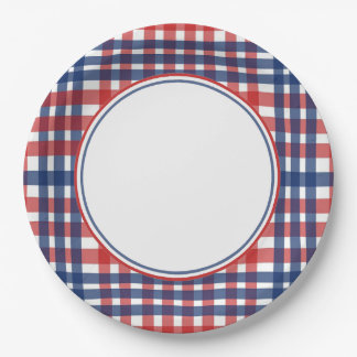 Country Spirit Veterans Day Party Paper Plates