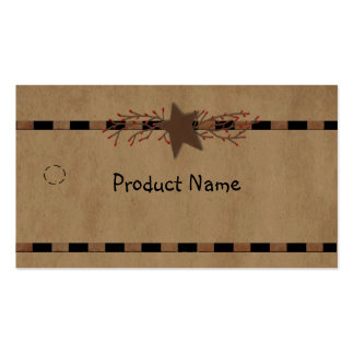 Country Star Hang Tag Business Card