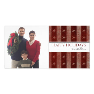 Country Stars and Stripes Holiday Photo Cards