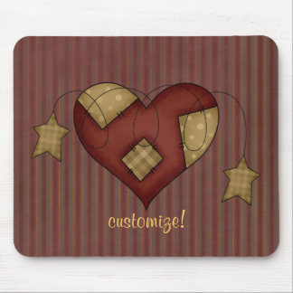 Country Stars & Heart Patch Mousepad