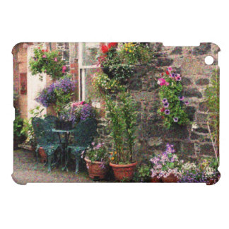 Country Stone Cottage With Flowers iPad Mini Covers