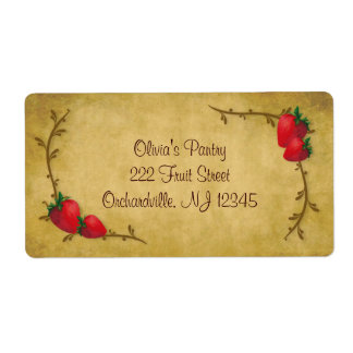 Country Strawberries Business Label