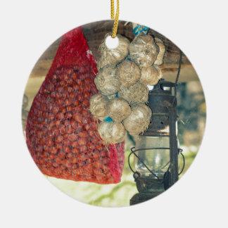 Country stuff ceramic ornament