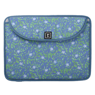 Country-style Blue Green Floral Periwinkle Pattern Sleeve For MacBook Pro