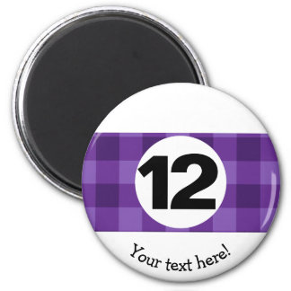 Country Style Checkered Billiards Twelve Ball Magnet