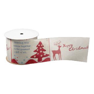 Country Style Christmas Ribbon Satin Ribbon