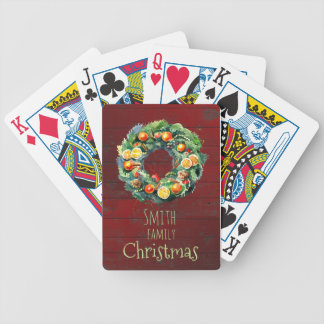 Country-style Family Christmas Poker Deck