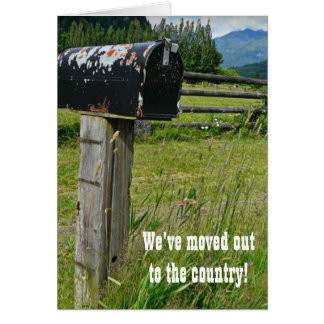 Country Style Metal Mailbox Card