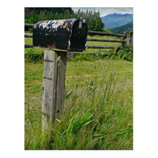 Country Style Metal Mailbox Postcard