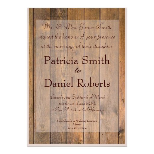 Country Style Wedding Invitations could be nice ideas for your invitation template