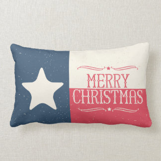 Country Style Texas Flag Christmas Accent Pillow
