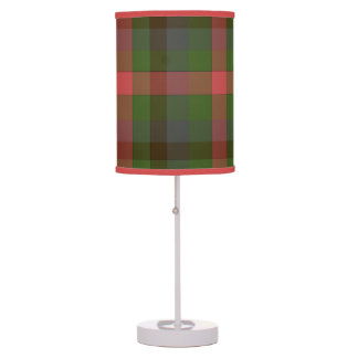Country Summer's Eve Plaid Shaded Table Lamp