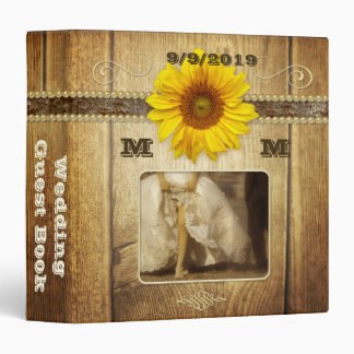 Country Sunflower Barn Wedding Binder