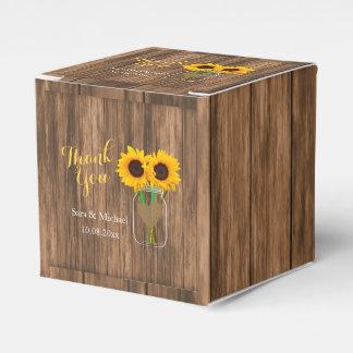 Country Sunflower Mason Jar - Thank You Favor Box