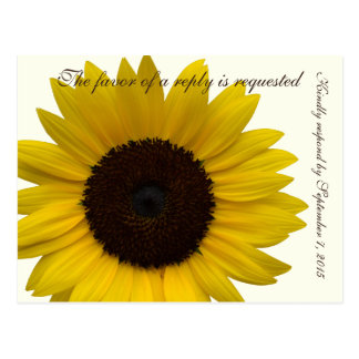 Country Sunflower RSVP response card