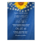 Country Sunflower & String Lights Wedding Card