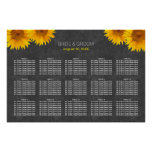 Country Sunflower Wedding 15 Tables Seating Chart