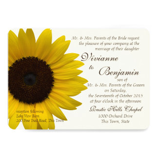 Country Sunflower Wedding Card